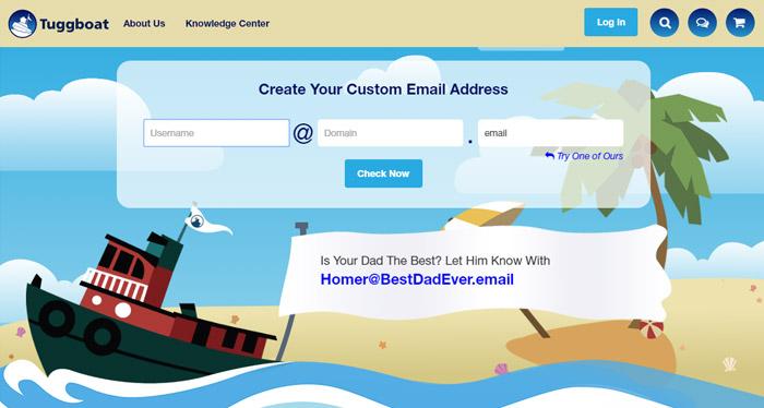 Tuggboat Custom Email